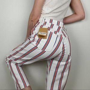 Reformation Roper Grenada Stripe Straight Jeans